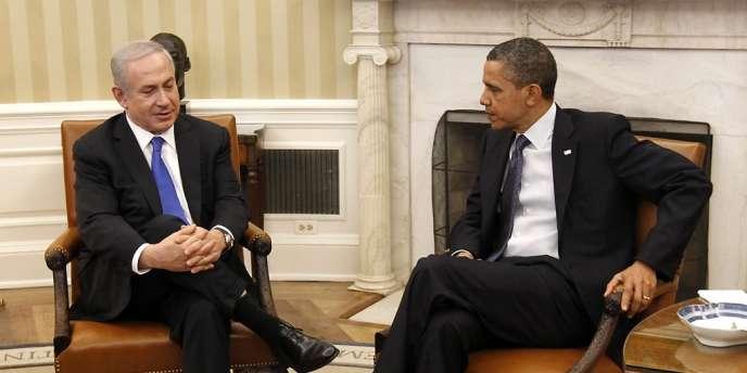 Le premier ministre israélien Benyamin Nétanyahou et le président américain Barack Obama, le 5 mars à Washington.