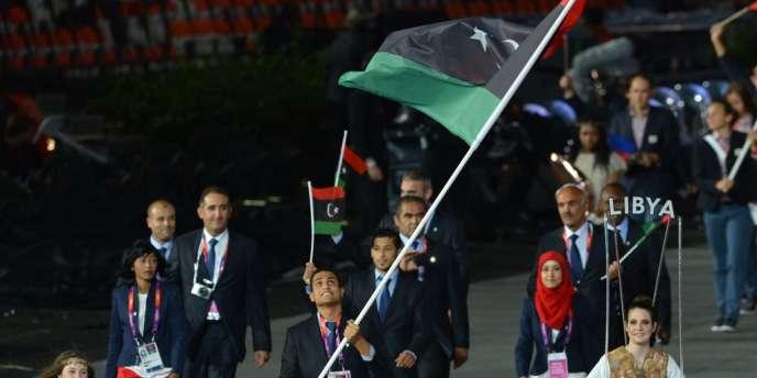 La délégation libyenne défile à Londres vendredi lors de la cérémonie d'ouverture.