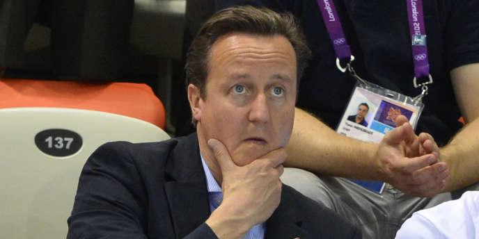 David Cameron, le 30 juillet, au Parc olympique