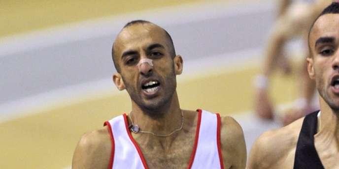 Nour-Eddine Gezzar, ici le 19 février 2011, veut participer aux Jeux malgré sa suspension pour dopage.