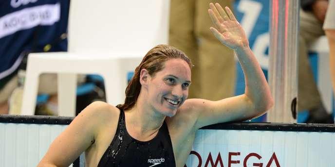 Camille Muffat médaillée d'argent sur 200 m nage libre. Londres, le 31 juillet.