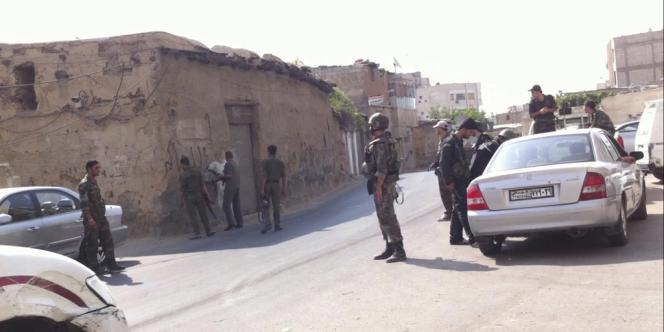Les troupes de l'armée syrienne à Jubar, près de Damas, le 31 juillet.