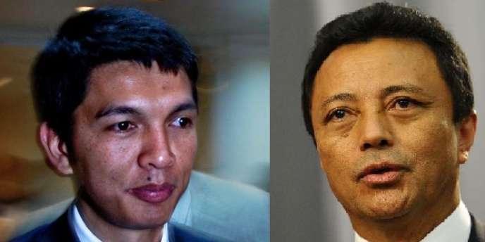 Andry Rajoelina et Marc Ravalomanana.
