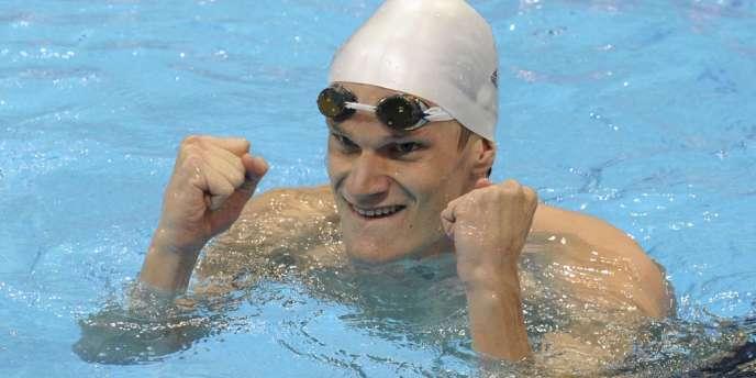 Yannick Agnel tentera de rejoindre le légendaire Mark Spitz en remportant une 3e médaille d'or. Londres, le 30 juillet.