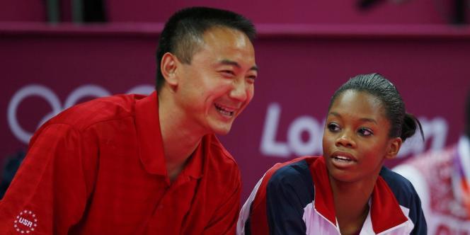 Liang Qiao et Gabrielle Douglas, le 2 août à Londres.