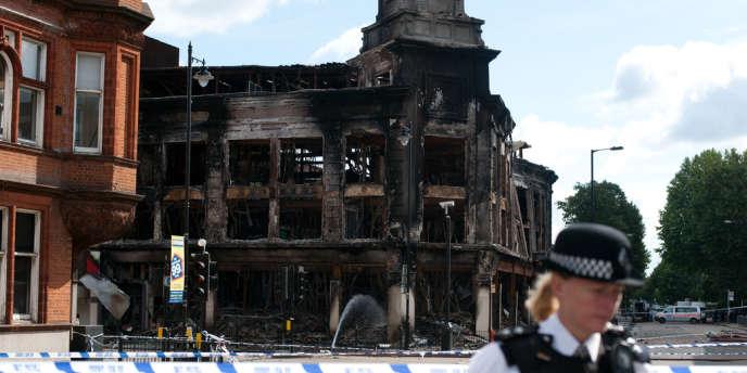 Le quartier de Tottenham, le 8 août 2011, après les émeutes qui ont secoué ce quartier du nord de Londres.