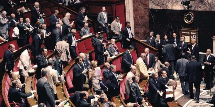 L'Assemblée nationale, fin juillet 2012.