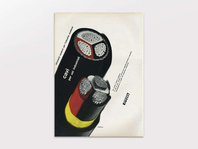 Affiche publicitaire pour Pirelli d'Albe Steiner.