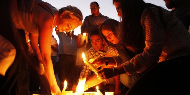 Cérémonie pour les victimes de la tuerie d'Oak Creek, dans le centre-villle de Milwaukee, dans le Wisconsin, le 5 août.