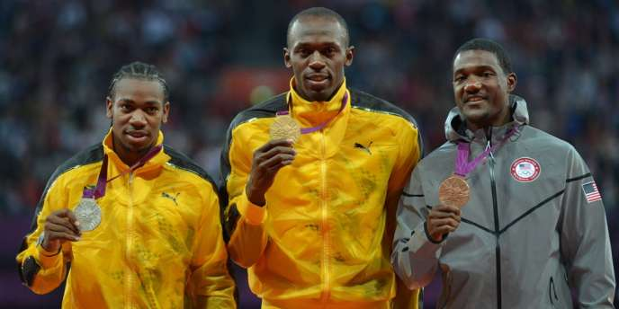 Sur le podium du 100 m dimanche à Londres, Yohan Blake, deuxième, et Justin Gatlin, troisième, ont tous deux connu une suspension pour dopage.