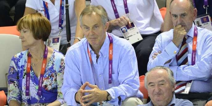 Tony Blair, ex Premier ministre britannique, à l'Aquatics Center de Londres, le 3 août.