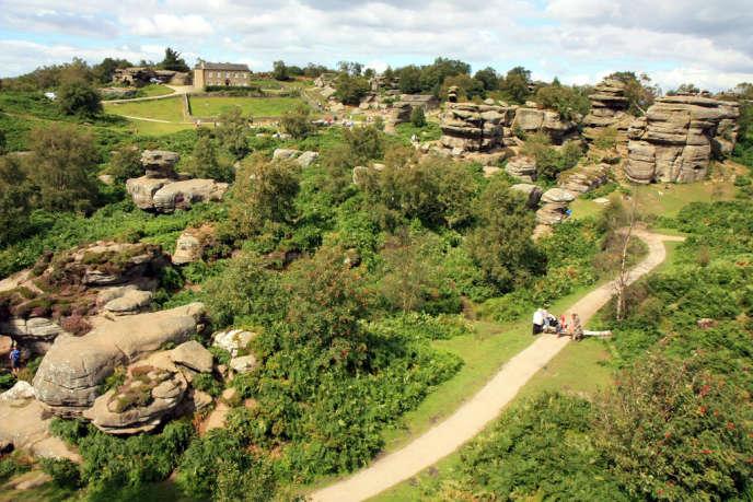 Le site de Brimham Rocks, dans le Yorkshire.