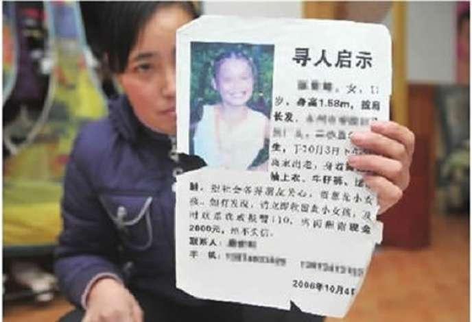 Tang Hui à l'époque où elle cherchait sa fille