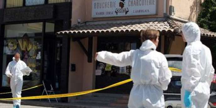 La boucherie où a été assassiné Maurice Costa, le 7 août, à Ponte-Lecchia (Haute-Corse).