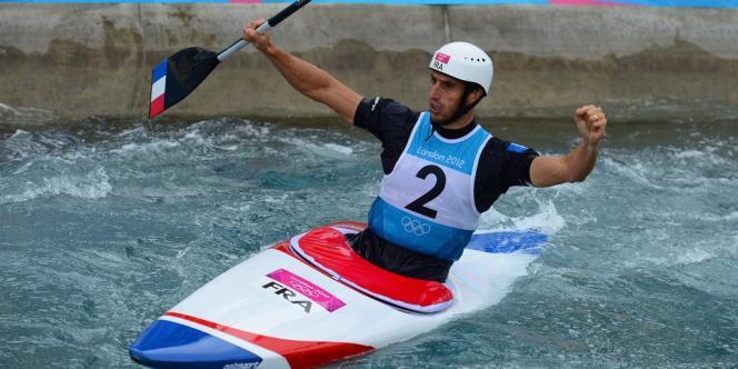 Tony Estanguet réalise un triplé historique pour le sport français. Londres, le 31 juillet.