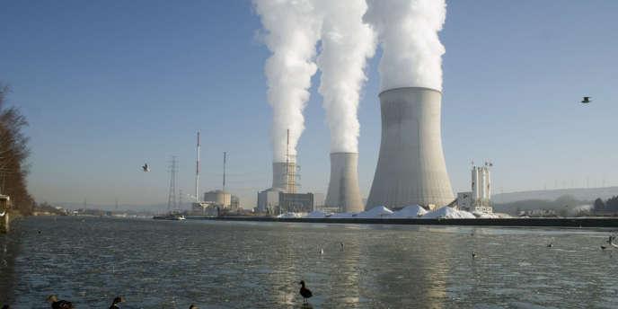 La centrale nucléaire de Tihange, près de Liège.