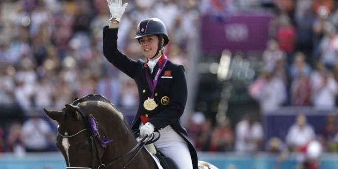 Charlotte Dujardin, championne olympique de dressage (Grande-Bretagne).
