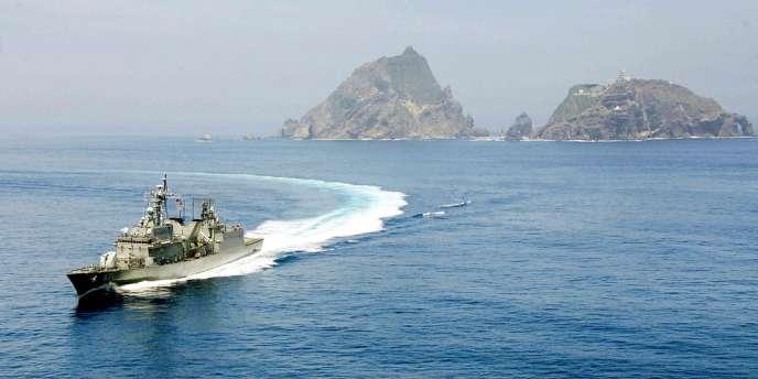 Un navire sud-coréen,