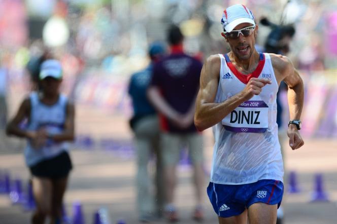 Yohann Diniz, aux Jeux olympiques de Londres, en 2012.