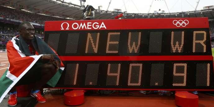 David Rudisha et son record du monde du 800 m.