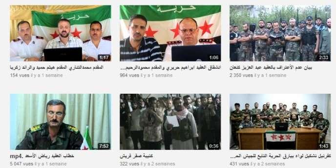Des vidéos publiées sur YouTube par l'Armée syrienne libre.
