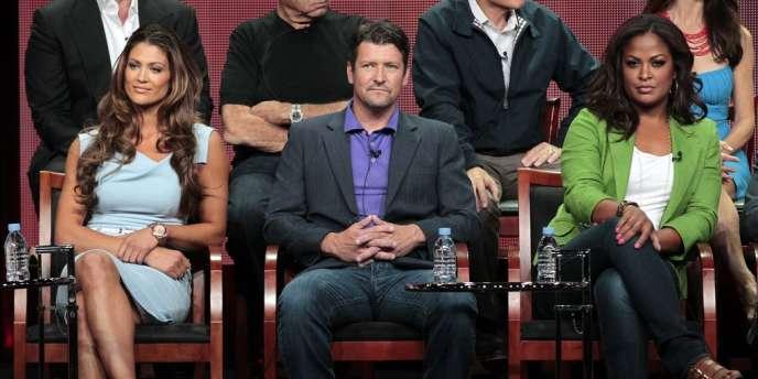 De gauche à droite, Eve Torres, Todd Palin et Laila Ali, qui participent à l'émission