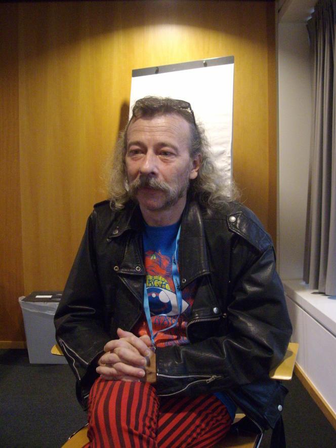 Roland C. Wagner aux Utopiales à Nantes en 2011.