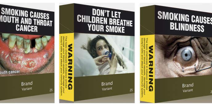 Modèles de paquets de cigarettes