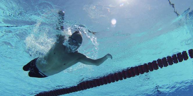 Le nageur espagnol Xavi Torres à l'entraînement. Palma de Majorque, le 15 mai.