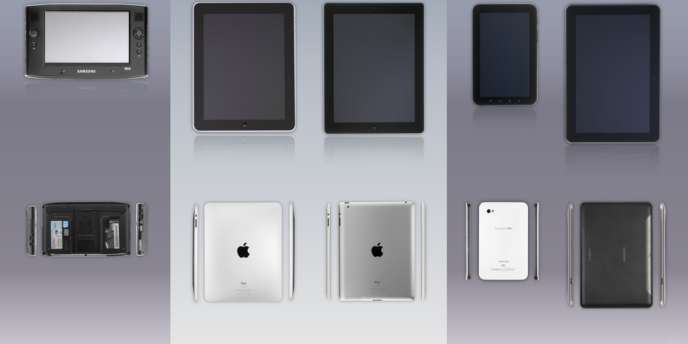 Pièces à conviction fournies lors du procès opposant Apple et Samsung.