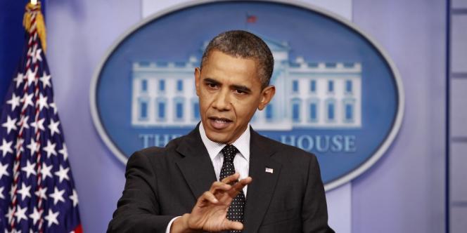 Barack Obama lors d'une conférence de presse à la Maison Blanche le lundi 20 août.