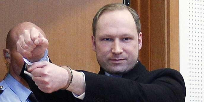 Anders Behring Breivik, le 6 février 2012.