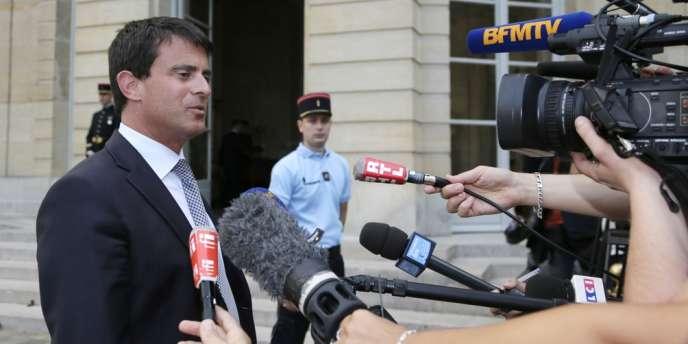 Manuel Valls, le 22 août à l'Elysée.