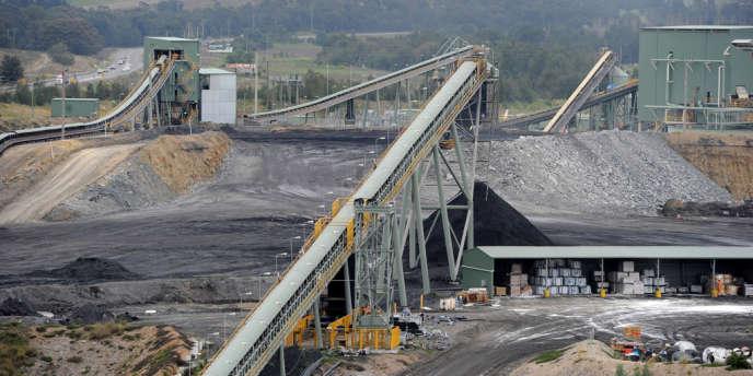 Mine de charbon en Australie, près de Camberwell.