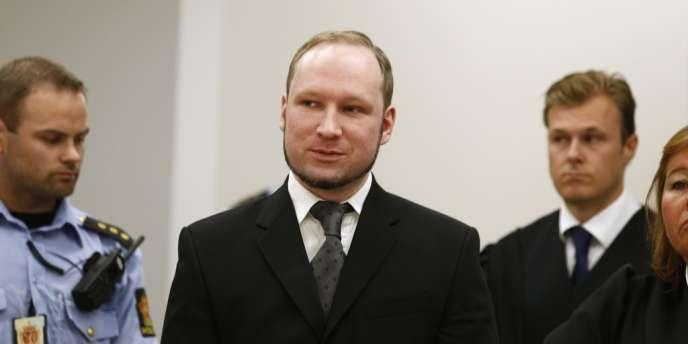 Anders Behring Breivik au tribunal d'Oslo le 24 août 2012.