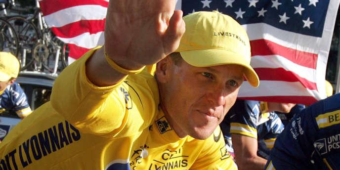 Lance Armstrong, après le Tour de France à Paris, en juillet 2004.