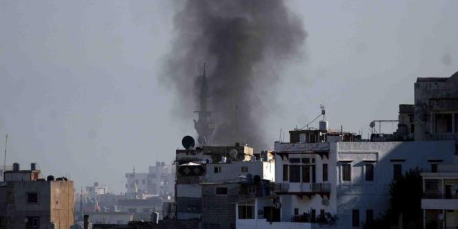 L'armée syrienne a bombardé plusieurs quartiers de Damas, d'Idlib et d'Alep alors que les violences au Liban ont fait une nouvelle victime.
