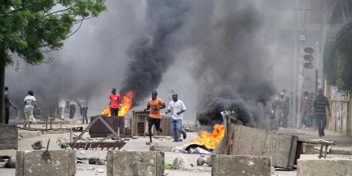 Les opposants ont manifesté à Lomé, au Togo, le 22 août.