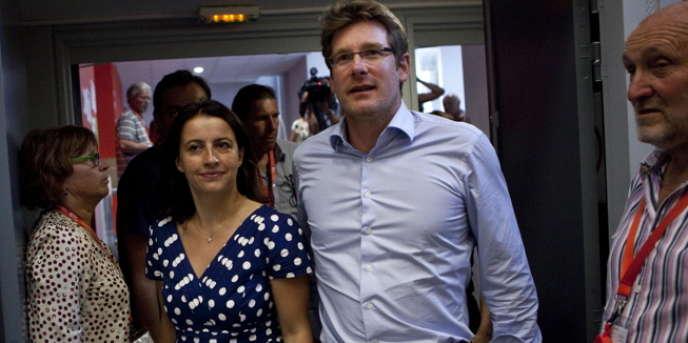 Cécile Duflot et Pascal Canfin, le 23 août, à Poitiers.