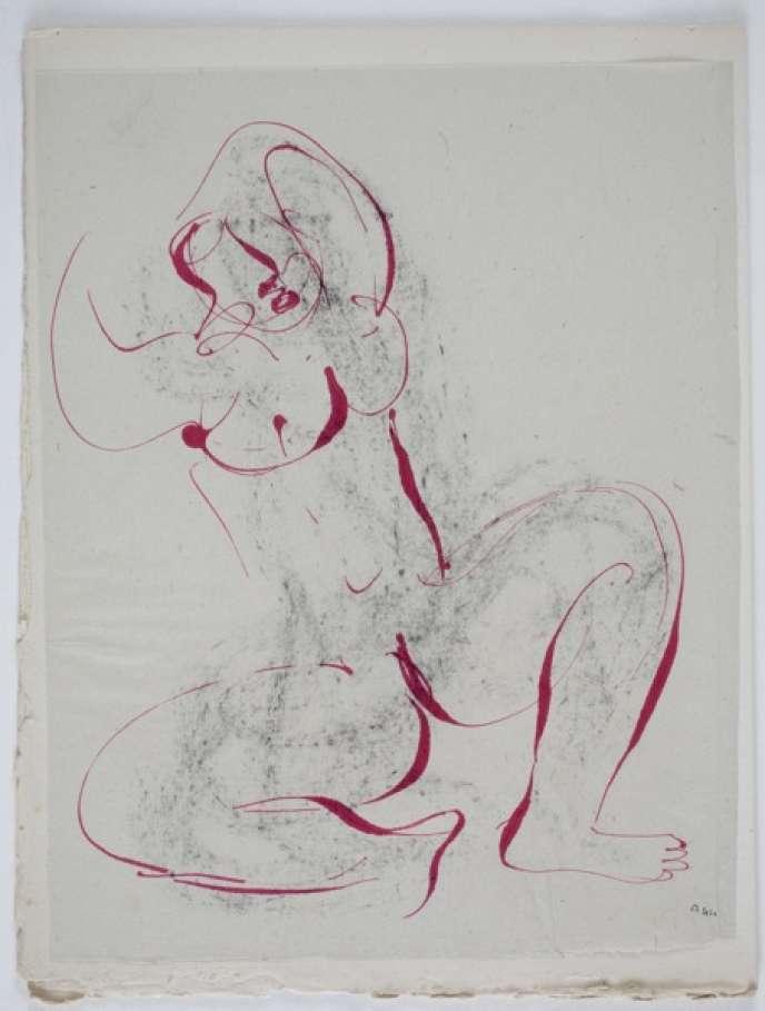 Une illustration de de Jean Fautrier qui accompagnait les oeuvres de Bataille.