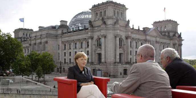 Angela Merkel lors de son interview du 26 août 2012, à Berlin.
