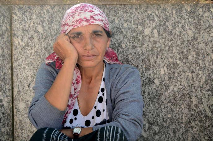 Mere De Famille Roms Devant La Mairie DEvry Septembre 2012