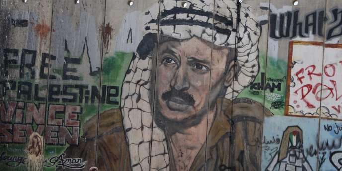 Portrait de Yasser Arafat à Ramallah, en août 2012.