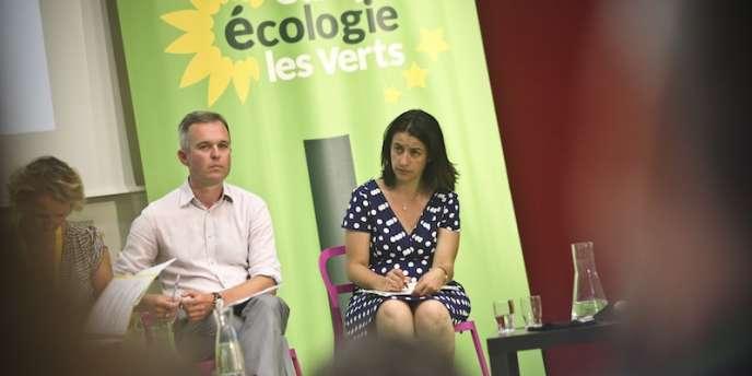 François de Rugy et Cécile Duflot, lors de l'université d'été d'Europe Ecologie-Les Verts, à Poitiers.