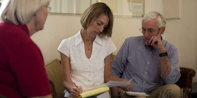 Les parents et la sœur de Rachel Corrie, le 26 août à Jérusalem.