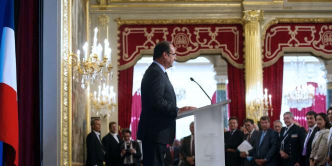 François Hollande, le 27 août, à l'Elysée.