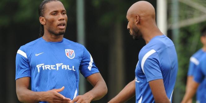 Didier Drogba et Nicolas Anelka, le 16 juillet.