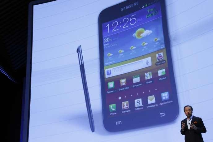 La présentation du Galaxy Note 2, le 29 août, à Berlin.