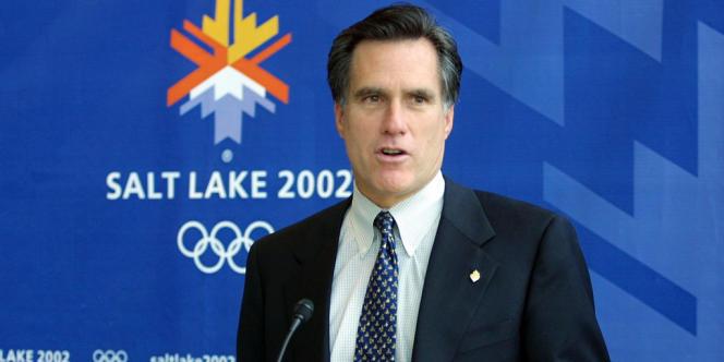 Mitt Romney aux JO d'hiver, en 2002.