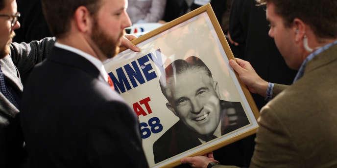 Une affiche électorale de George Romney datant de 1968.